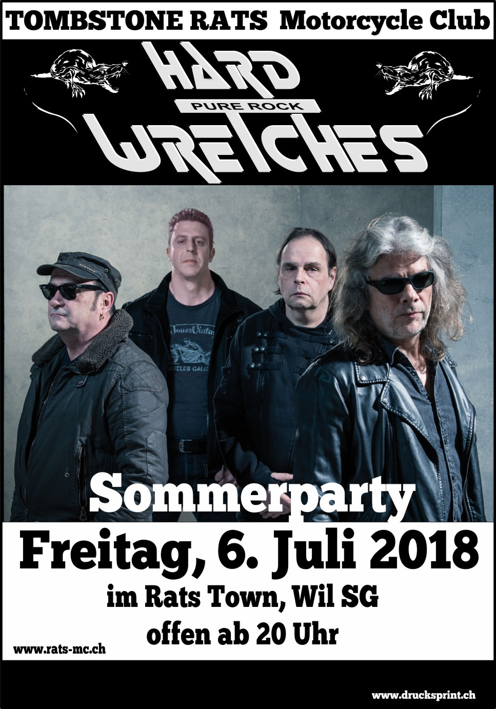 Plakat Hard Wretches Juli 2018